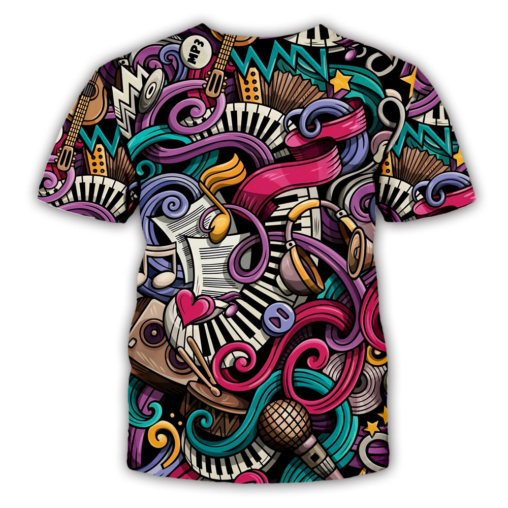 Music Party 3D All Over Printed Art Shirts For Men & Women