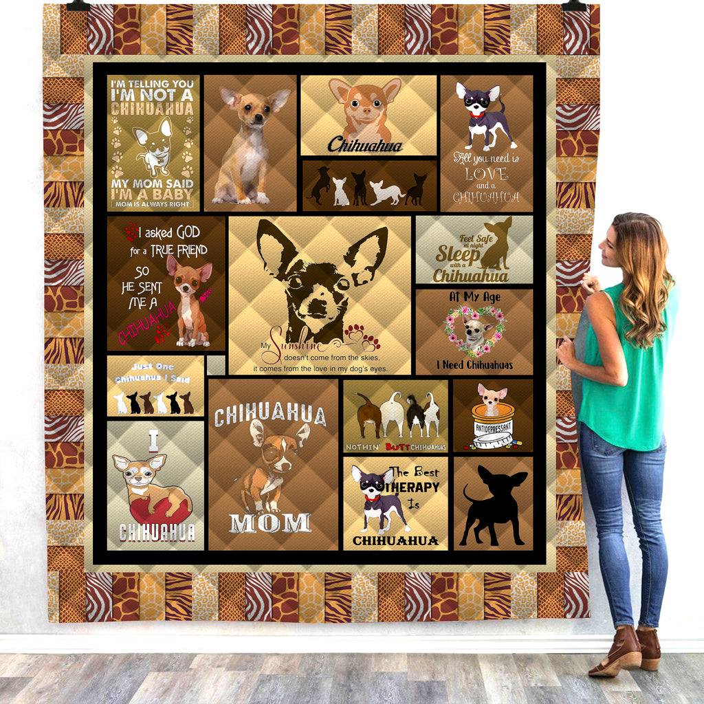 Dog 3D All Over Printed Quilts
