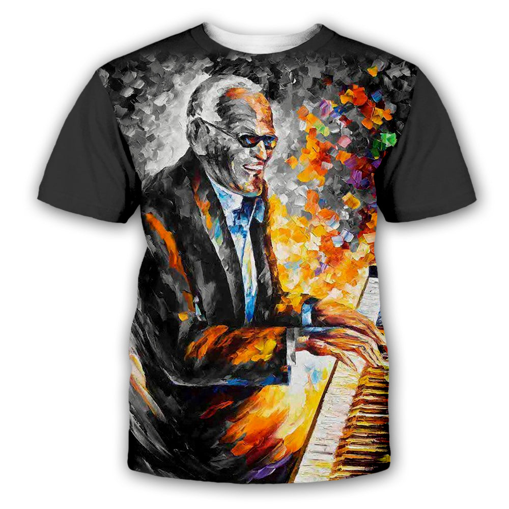 Piano 3D All Over Printed Art Shirts For Men & Women - PLstar VK