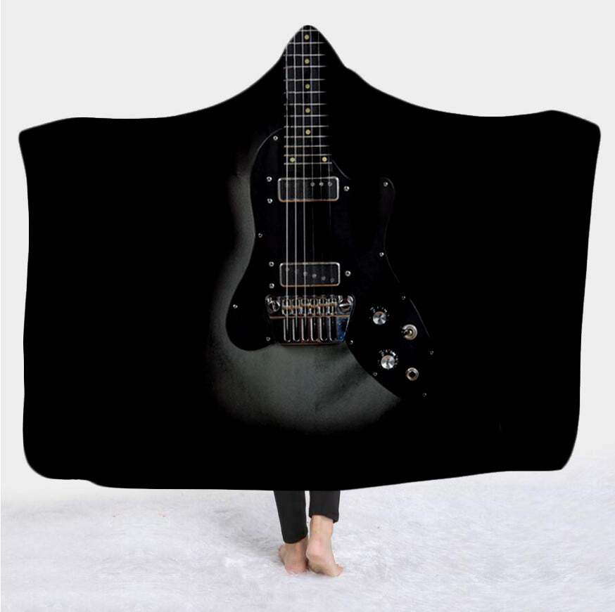 Guitar 3D All Over Printed Hooded Blanket - PLstar VK