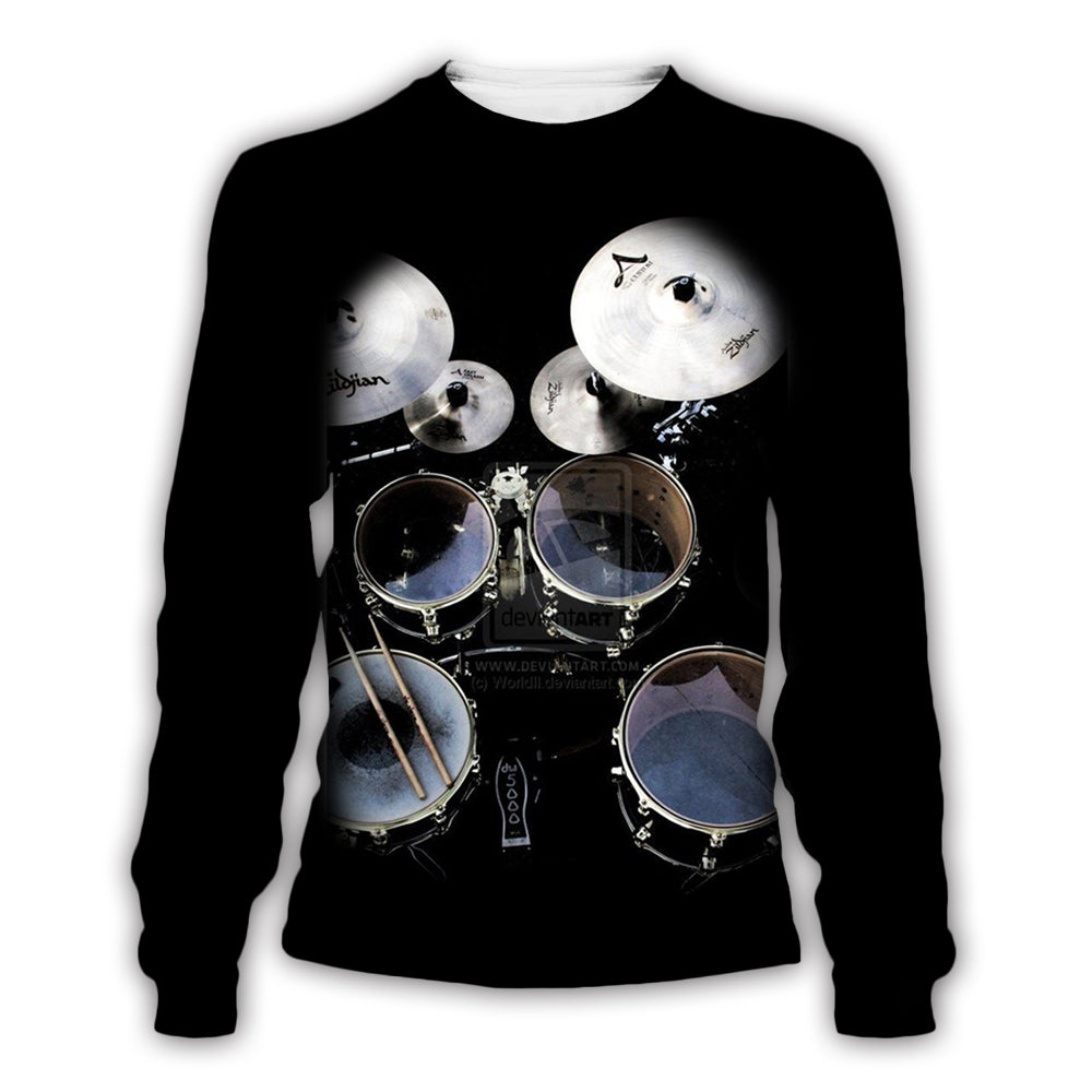 Jazz Drumming 3D All Over Printed Art Shirts For Men & Women