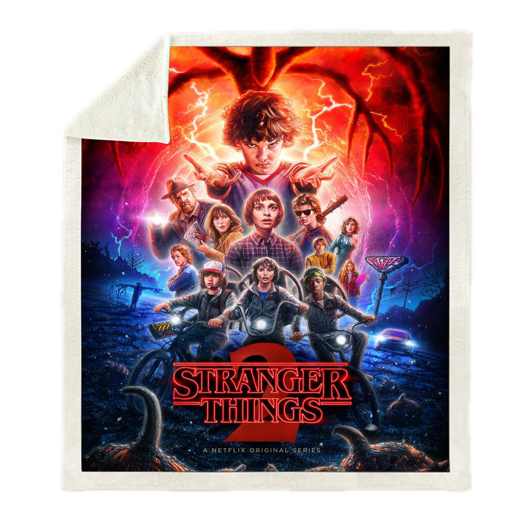 Horror Things 3D All Over Printed Square Blanket