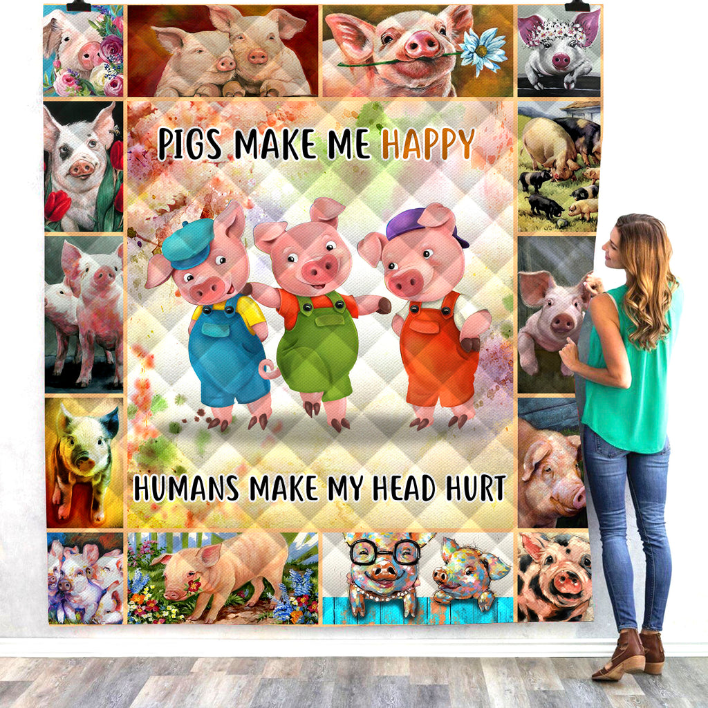 Three little pigs 3D All Over Printed Quilts
