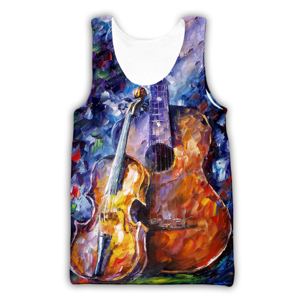 Violin 3D All Over Printed Art Shirts For Men & Women - PLstar VK