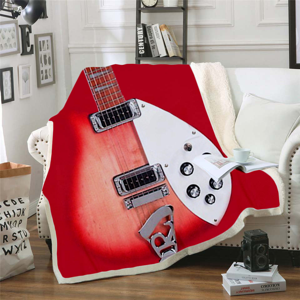 Guitar 3D All Over Printed Square Blanket - PLstar VK