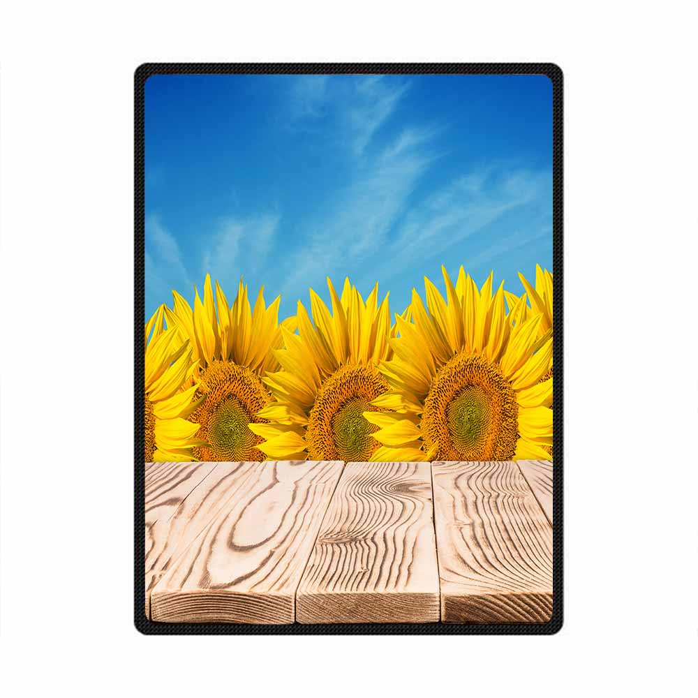 Sunflower 3D All Over Printed Square Blanket