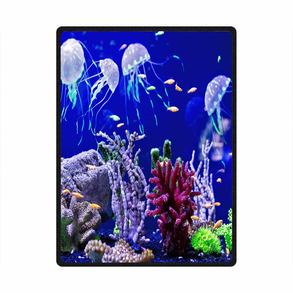 Jellyfish 3D All Over Printed Square Blanket