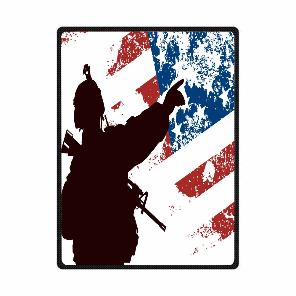 Soldier 3D All Over Printed Square Blanket