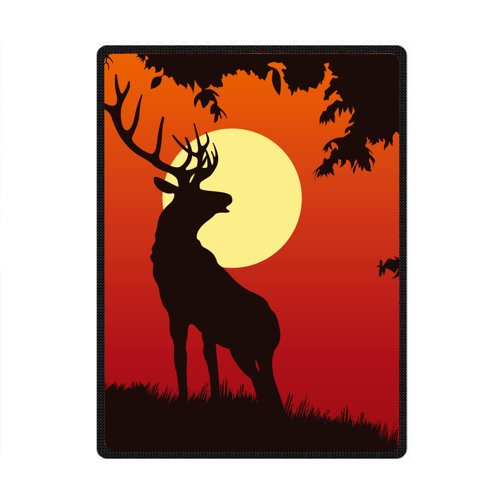 Elk 3D All Over Printed Square Blanket