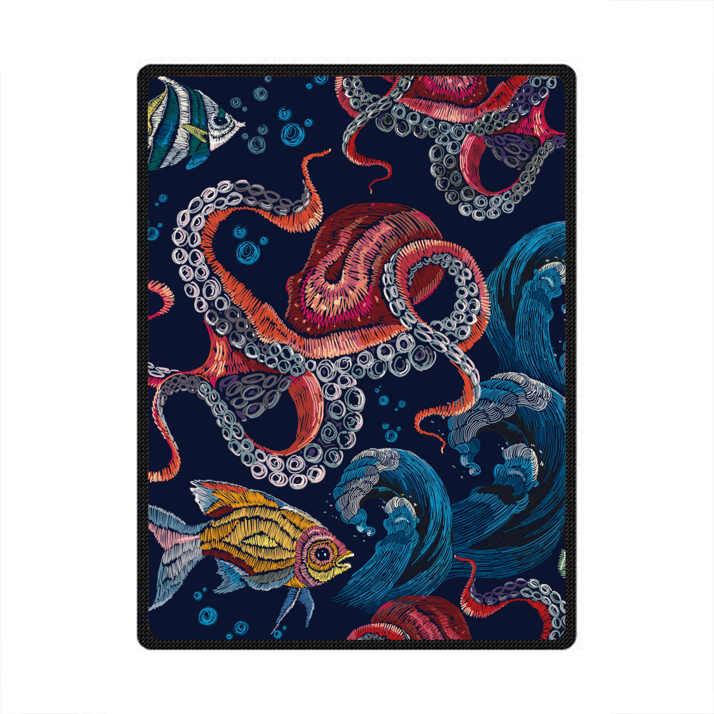Octopus 3D All Over Printed Square Blanket