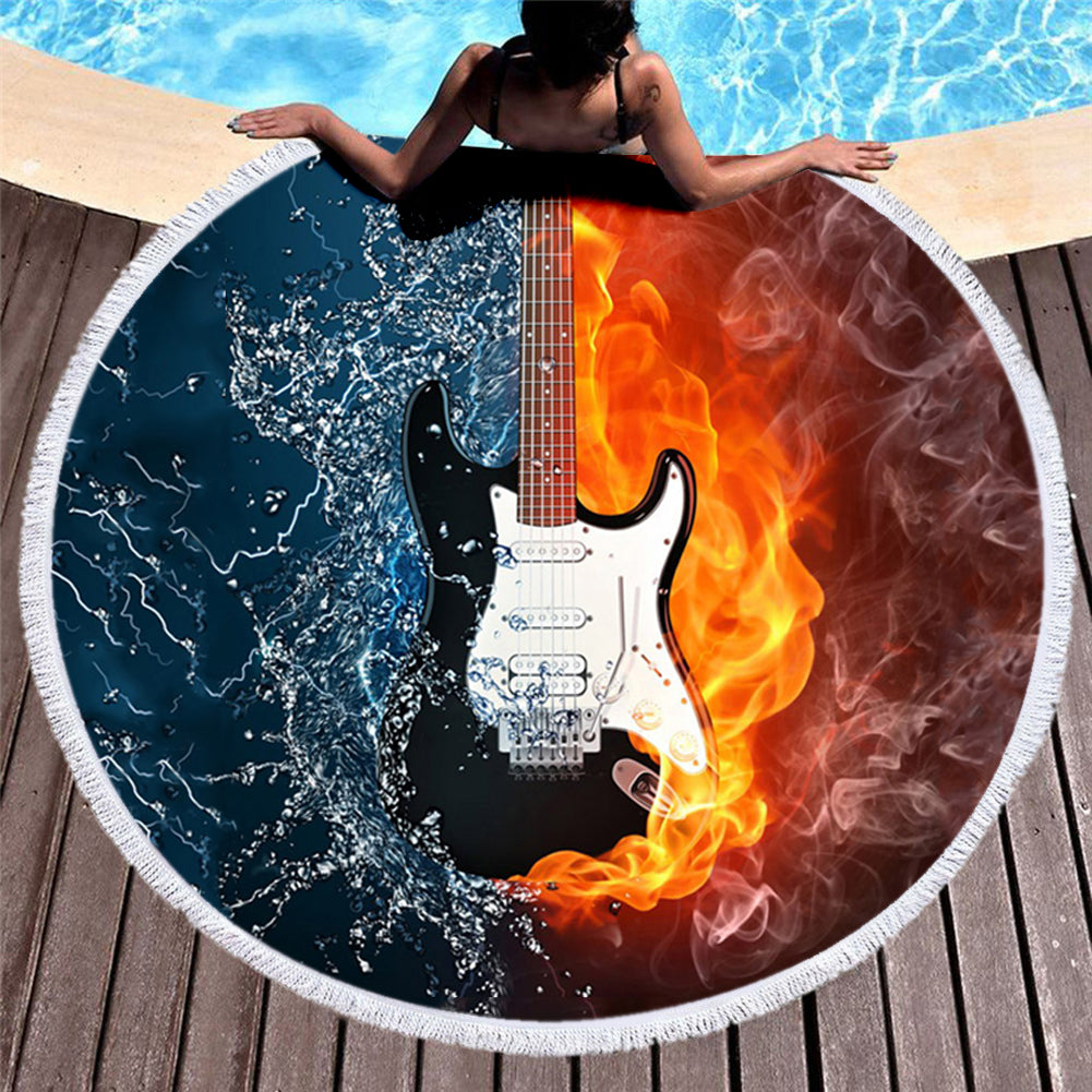 Guitar 3D All Over Printed Beach Blanket - PLstar VK