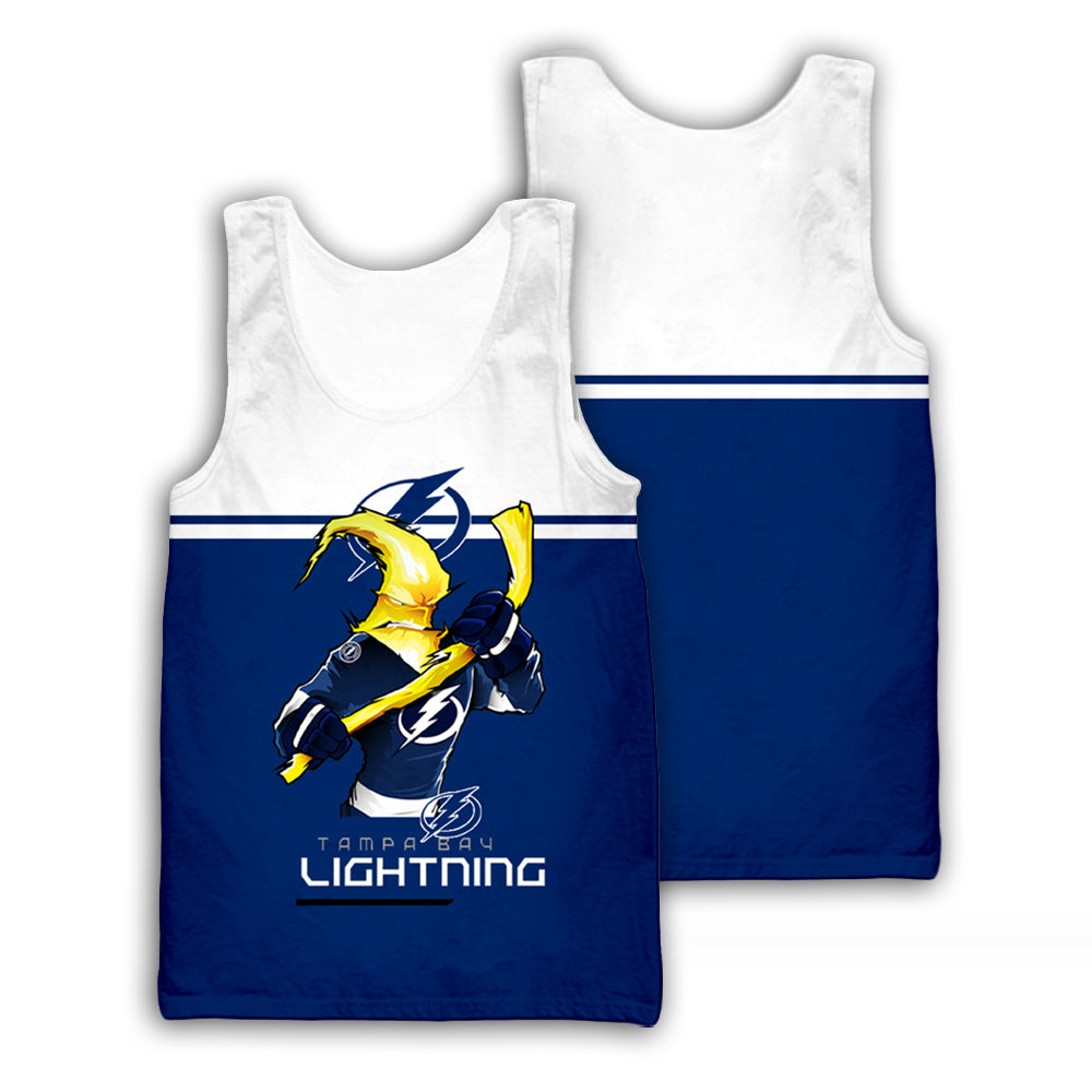 Front Tampa Bay Lightning 3D All Over Printed Shirts For Men&Women - PLstar VK