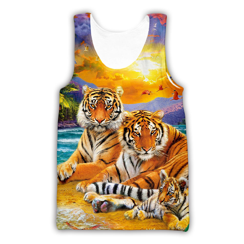 Tigers Art 3D All Over Printed Shirts For Men & Women - PLstar VK