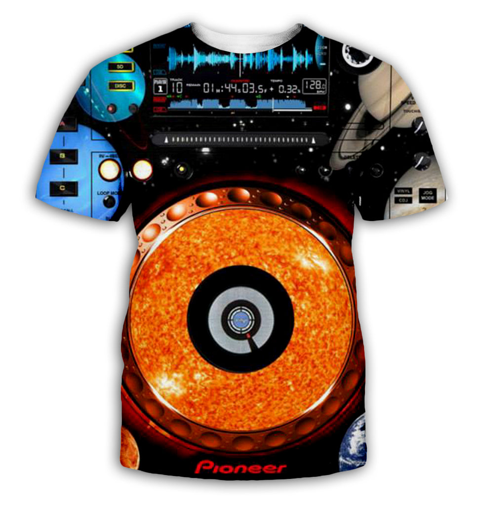 DJ 3D All Over Printed Art Shirts For Men & Women - PLstar VK