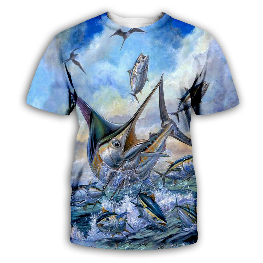 Fish 3D All Over Printed Art Shirts For Men & Women