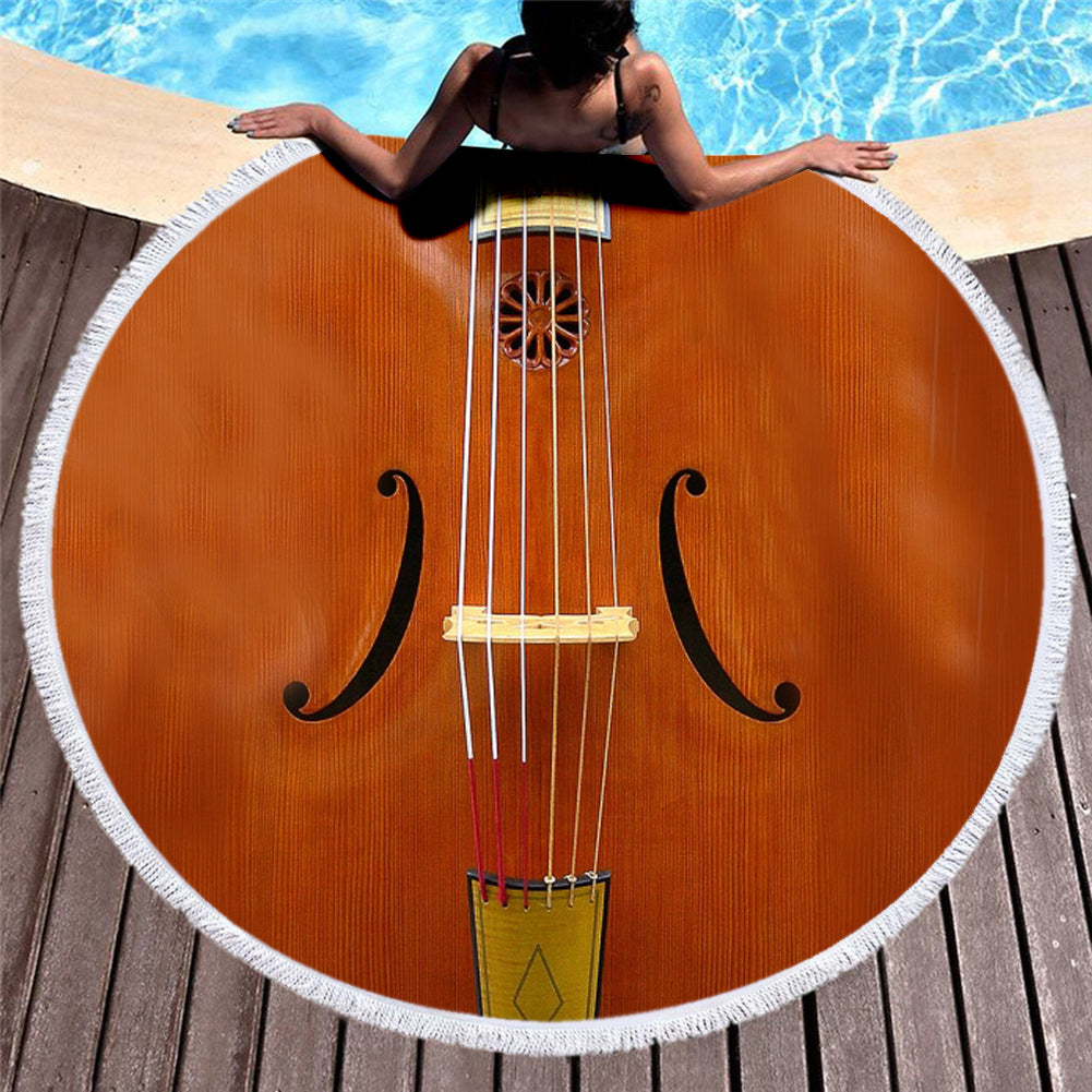 Violin 3D All Over Printed Beach Blanket