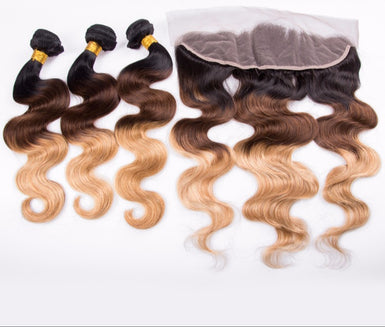 Bundles plus lace frontal
