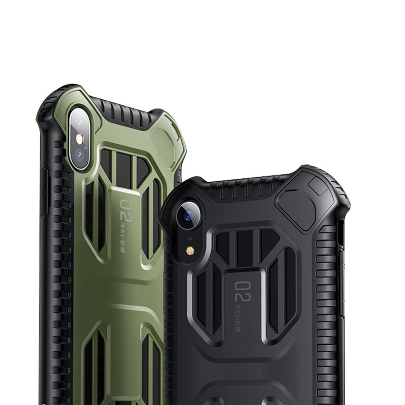 quality design f891b 70a31 Military Armor Case For iPhone Soft Silicone + Plastic Hybrid Phone Case