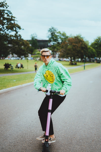 neck deep riding gotrax scooter