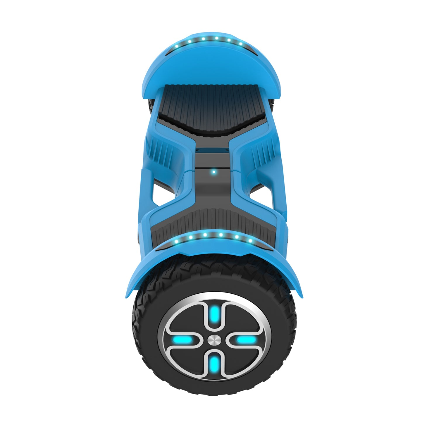 Blue E3 hoverboard side image