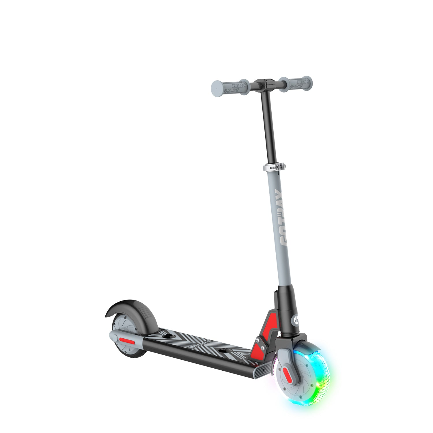 black gks lumios electric scooter for kids angle image