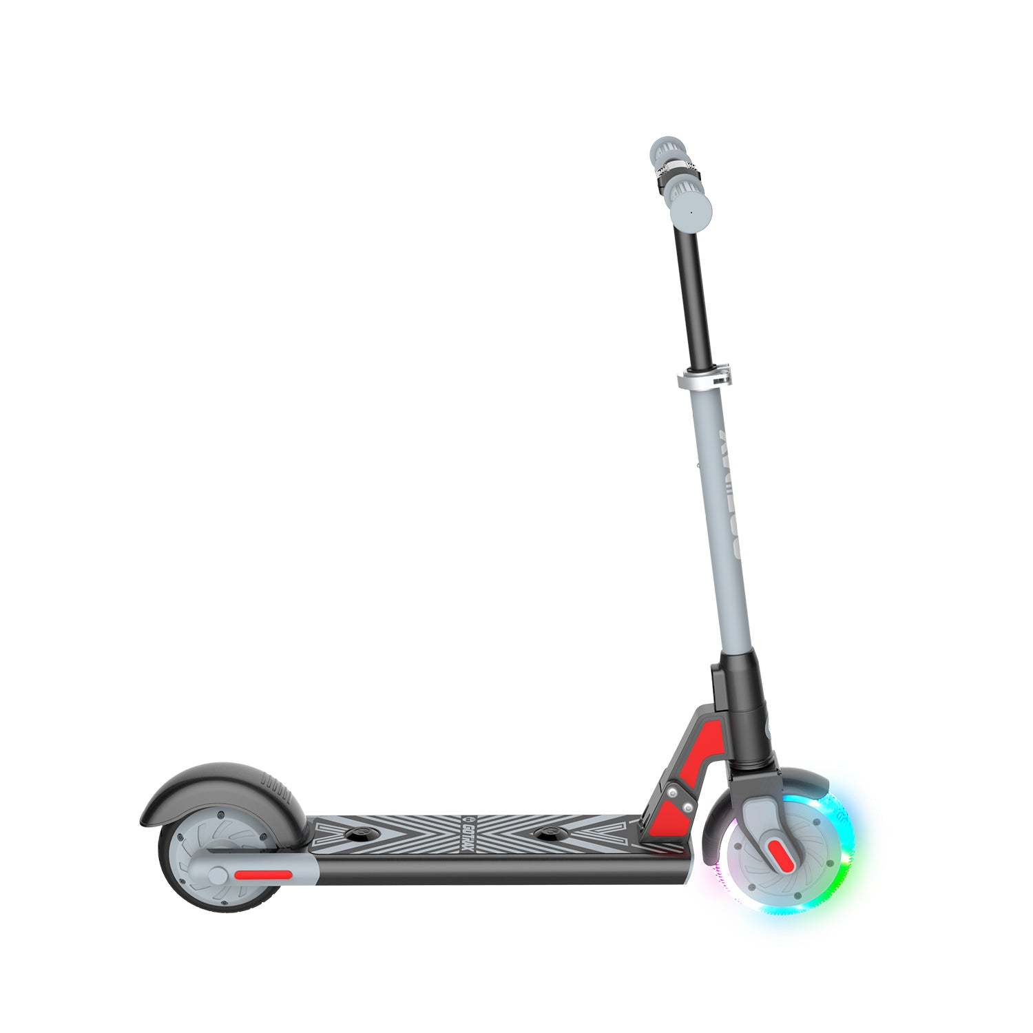 Gray gks lumios electric scooter for kids side image
