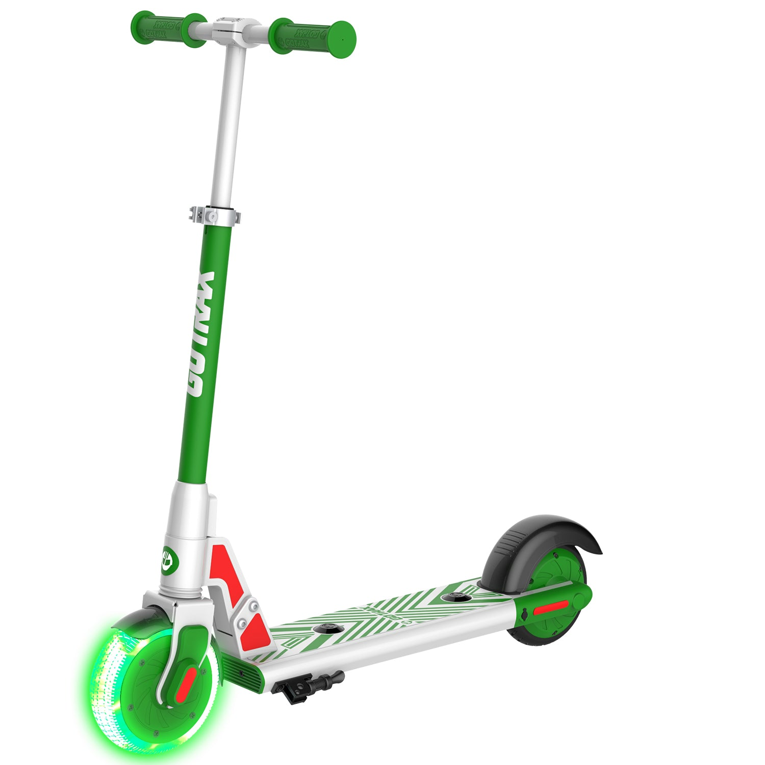 green gks lumios electric scooter for kids main image
