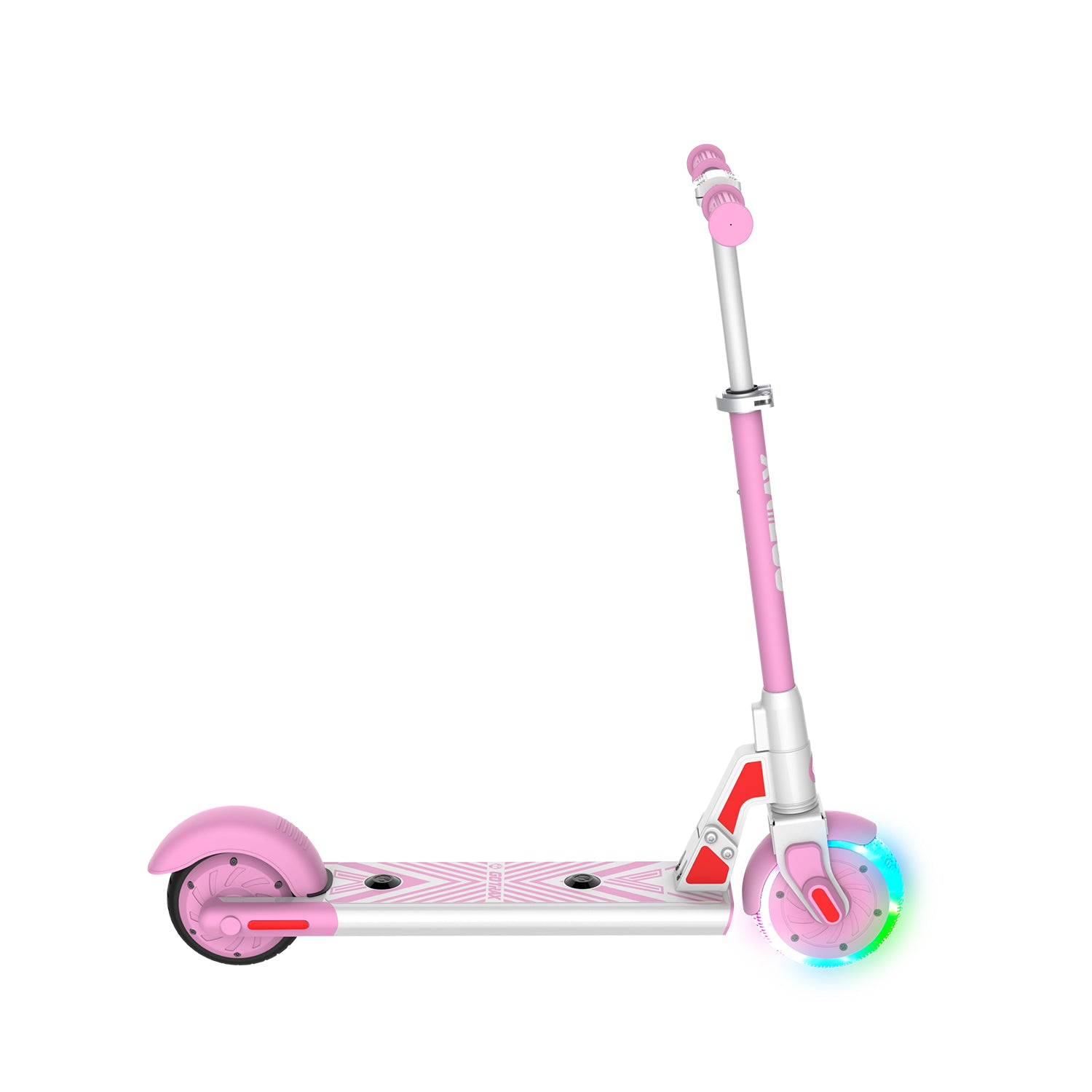 pink gks lumios electric scooter for kids side image