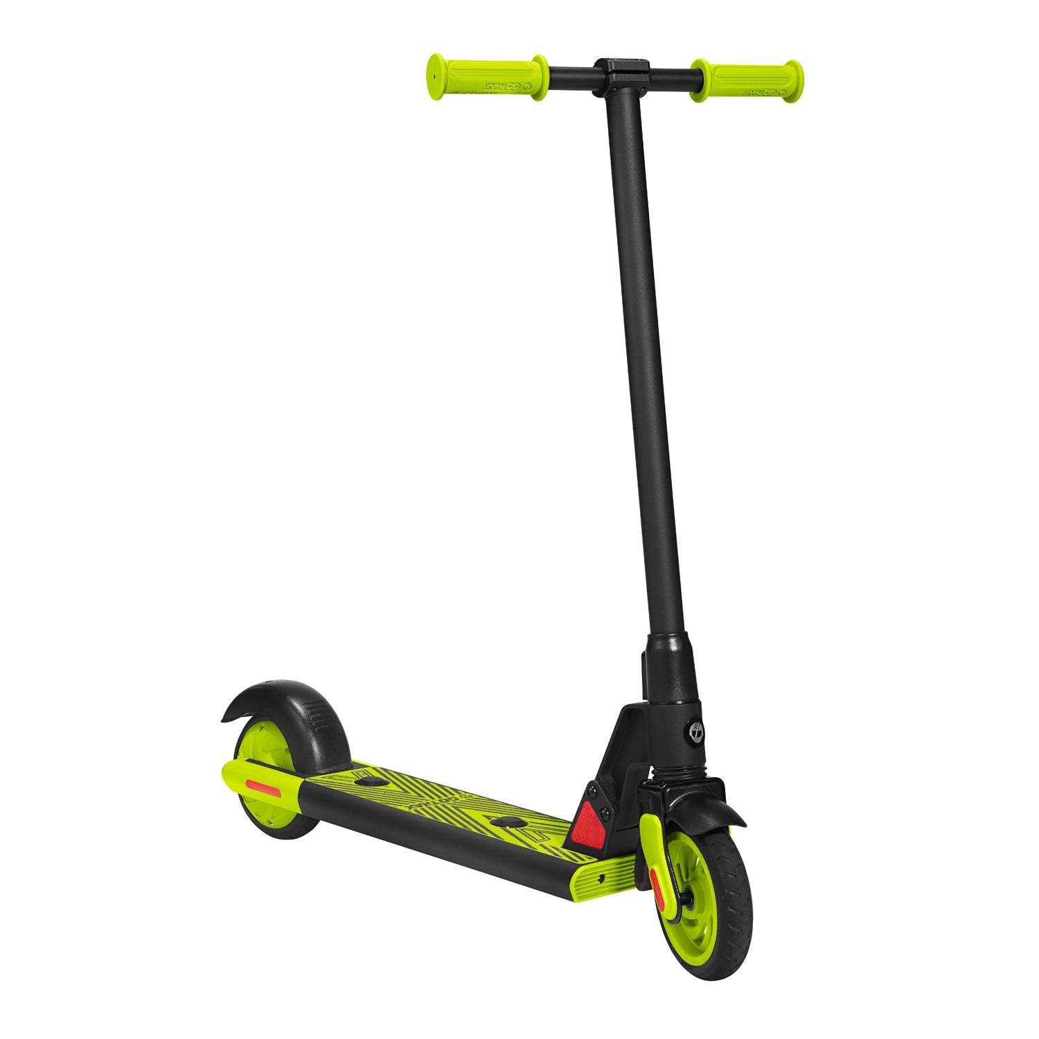 Green gks electric scooter for kids angle image