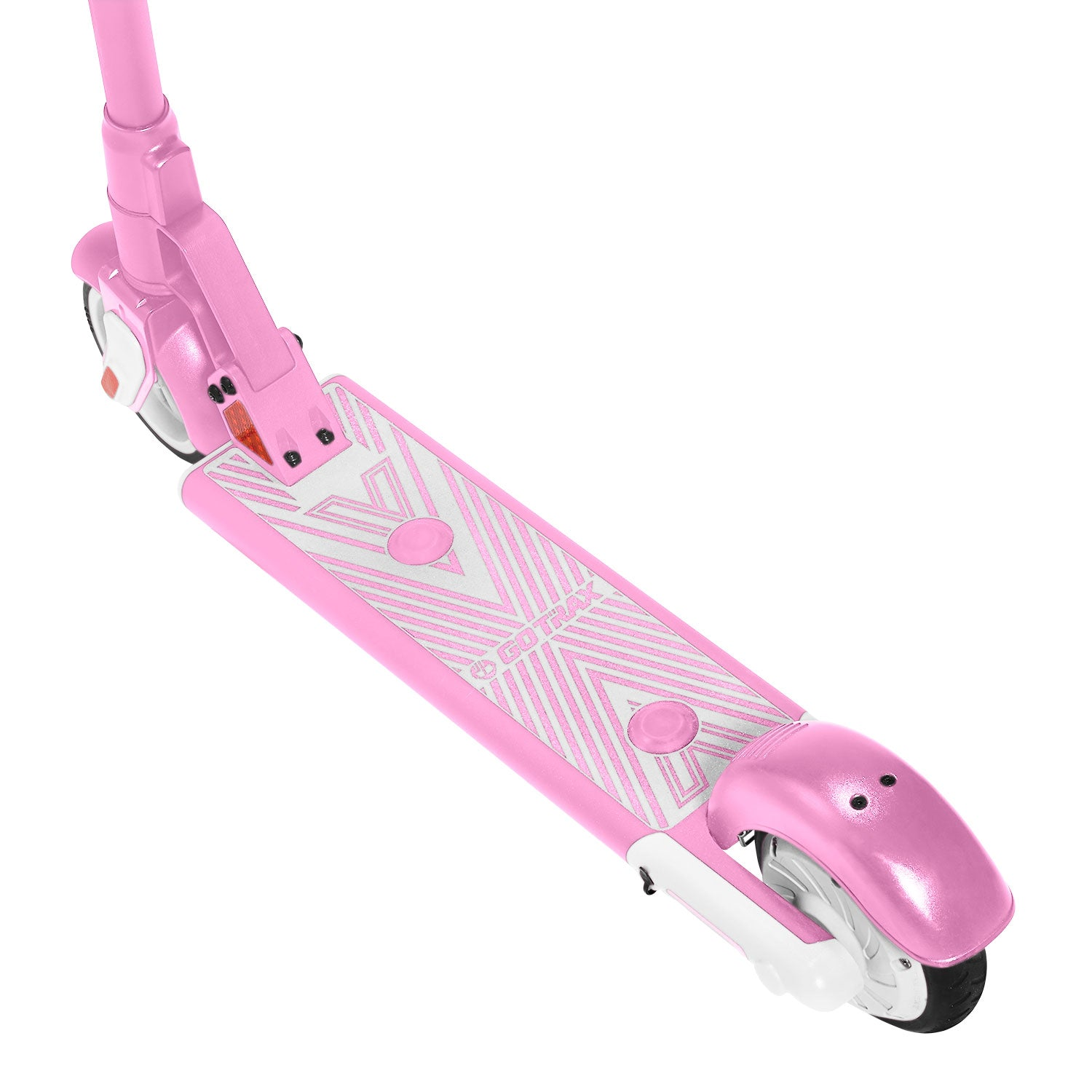 Pink gks electric scooter for kids deck image