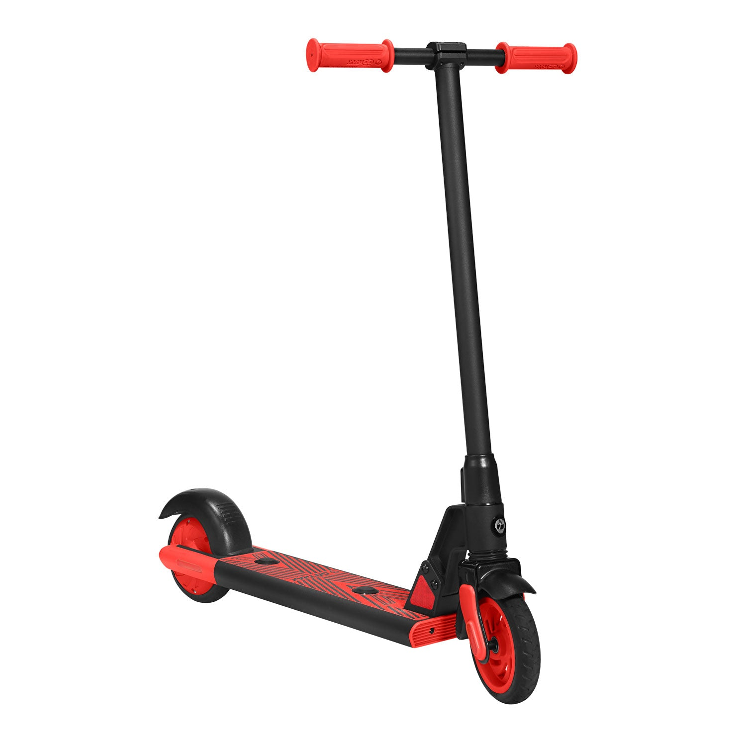 Red gks electric scooter for kids angle image