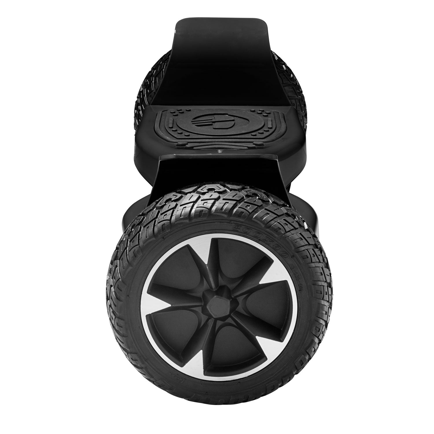 black xl off road hoverboard side