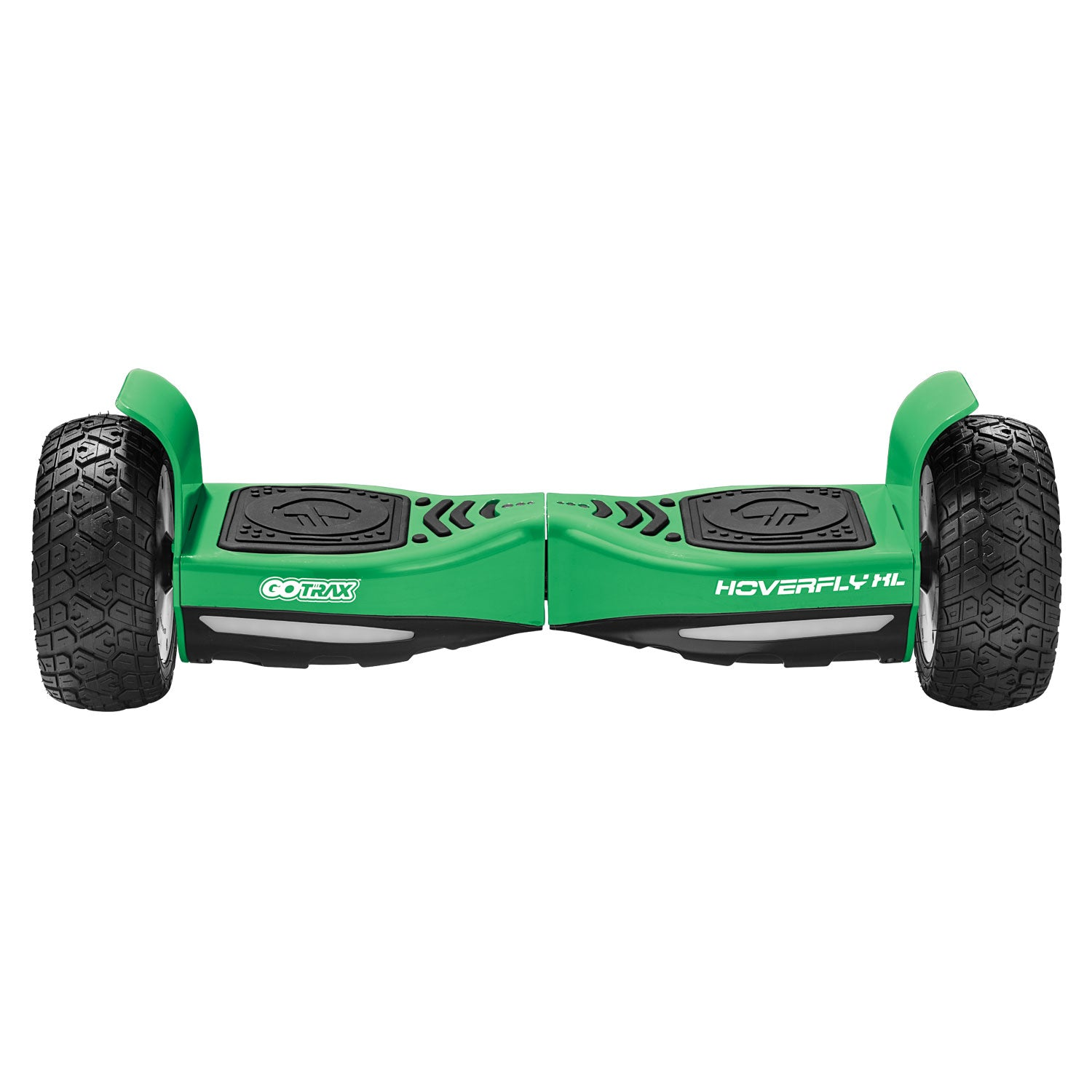 green xl off road hoverboard Front
