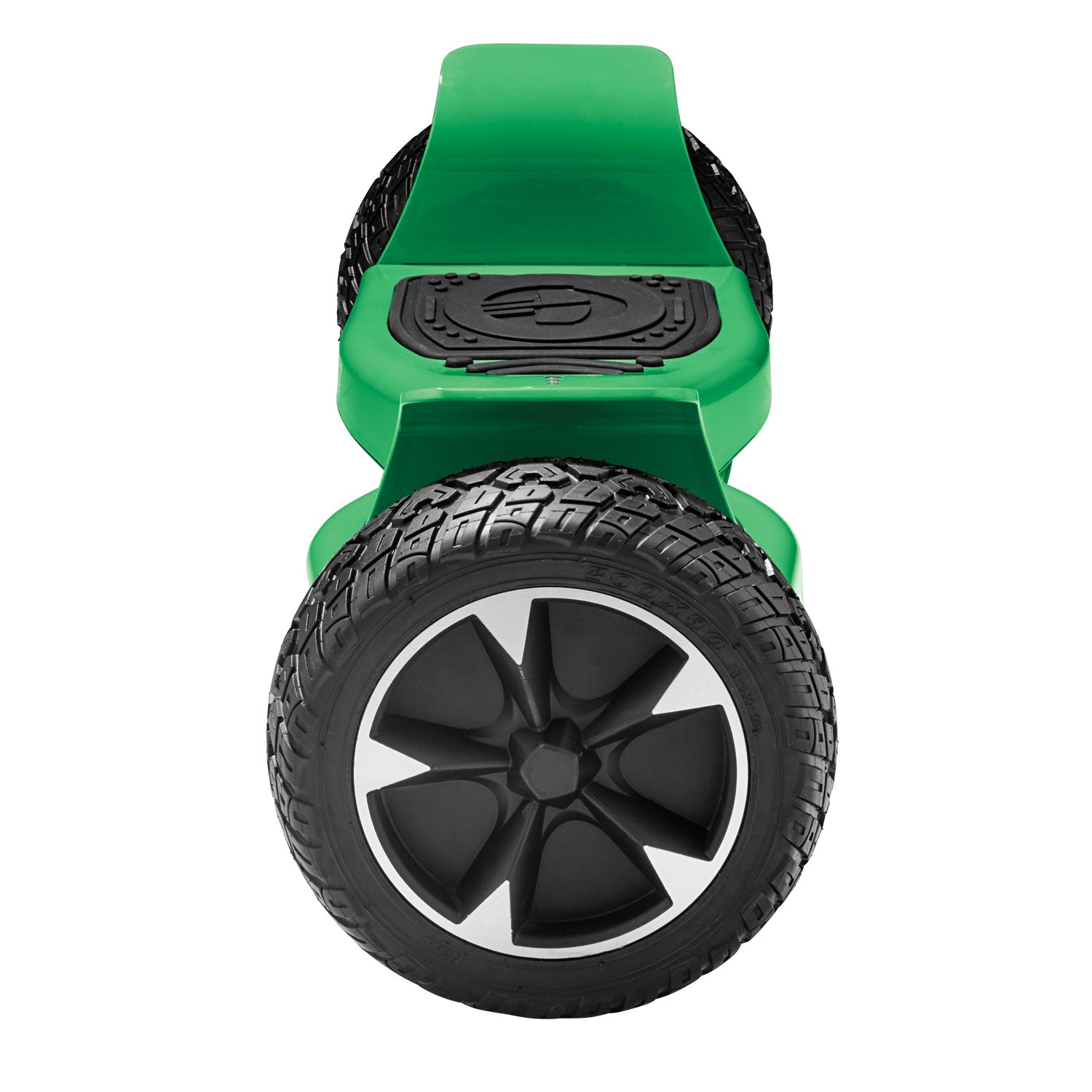 green xl off road hoverboard side view