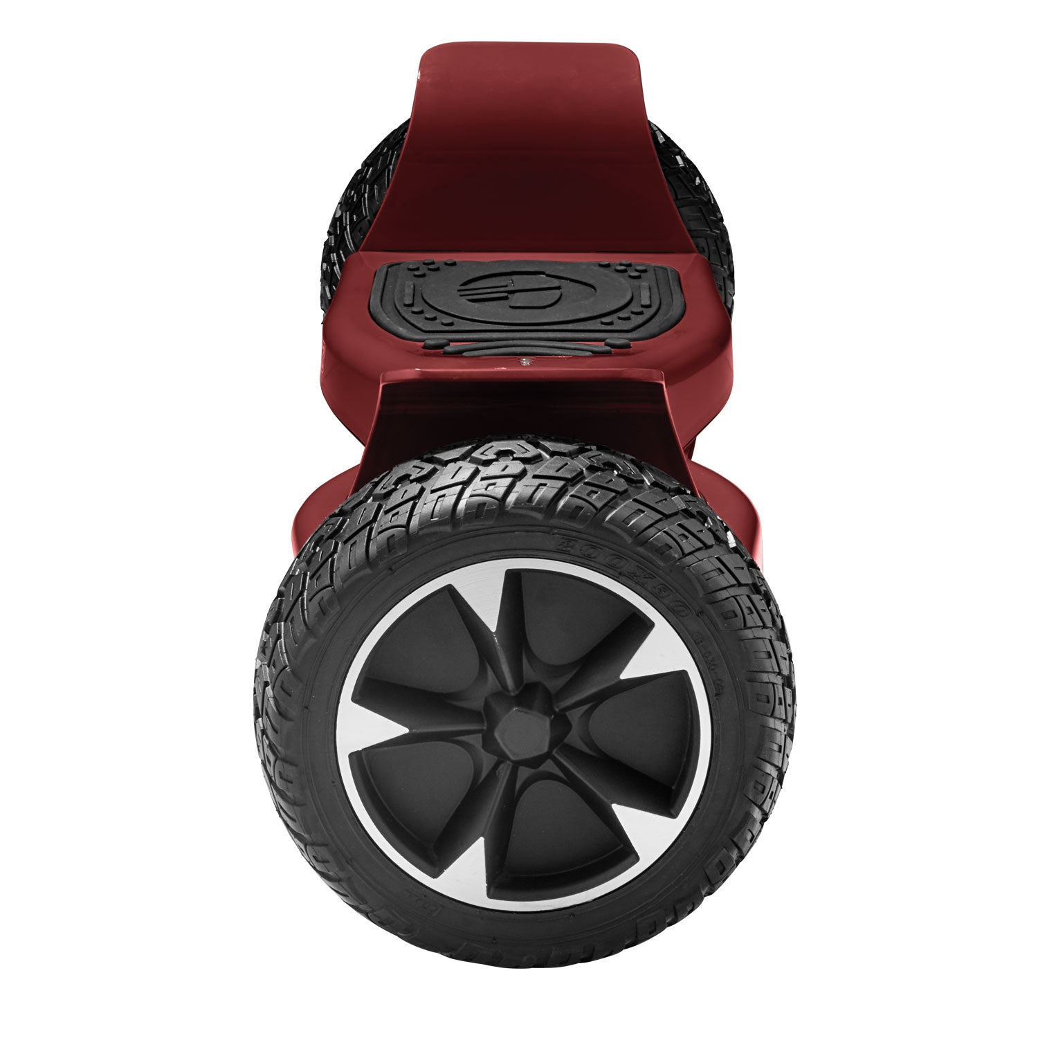 red xl off road hoverboard side view