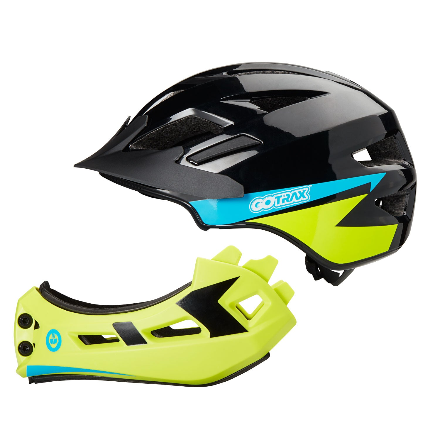 Green GOTRAX 2 in 1 Helmet Separated Image