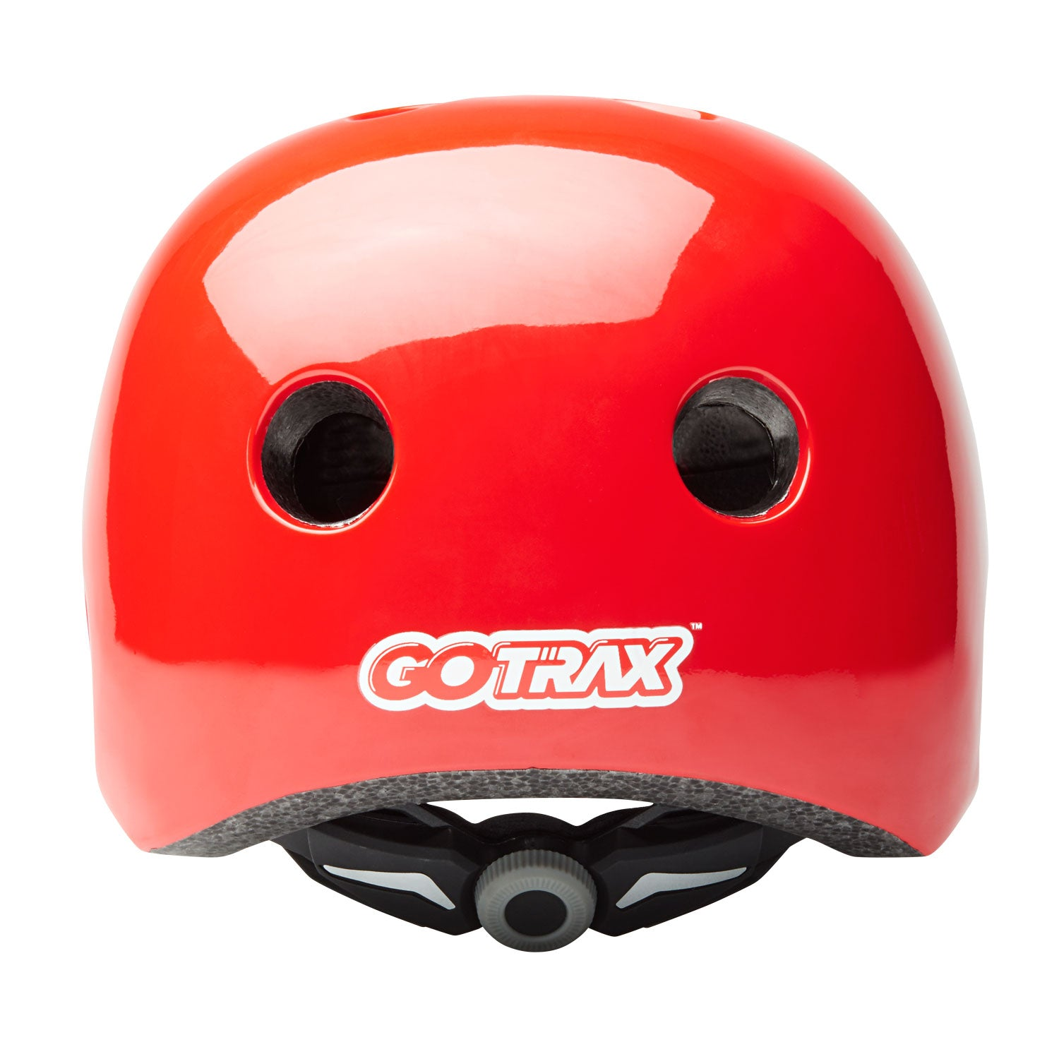 Red GOTRAX multi-sport helmet back image