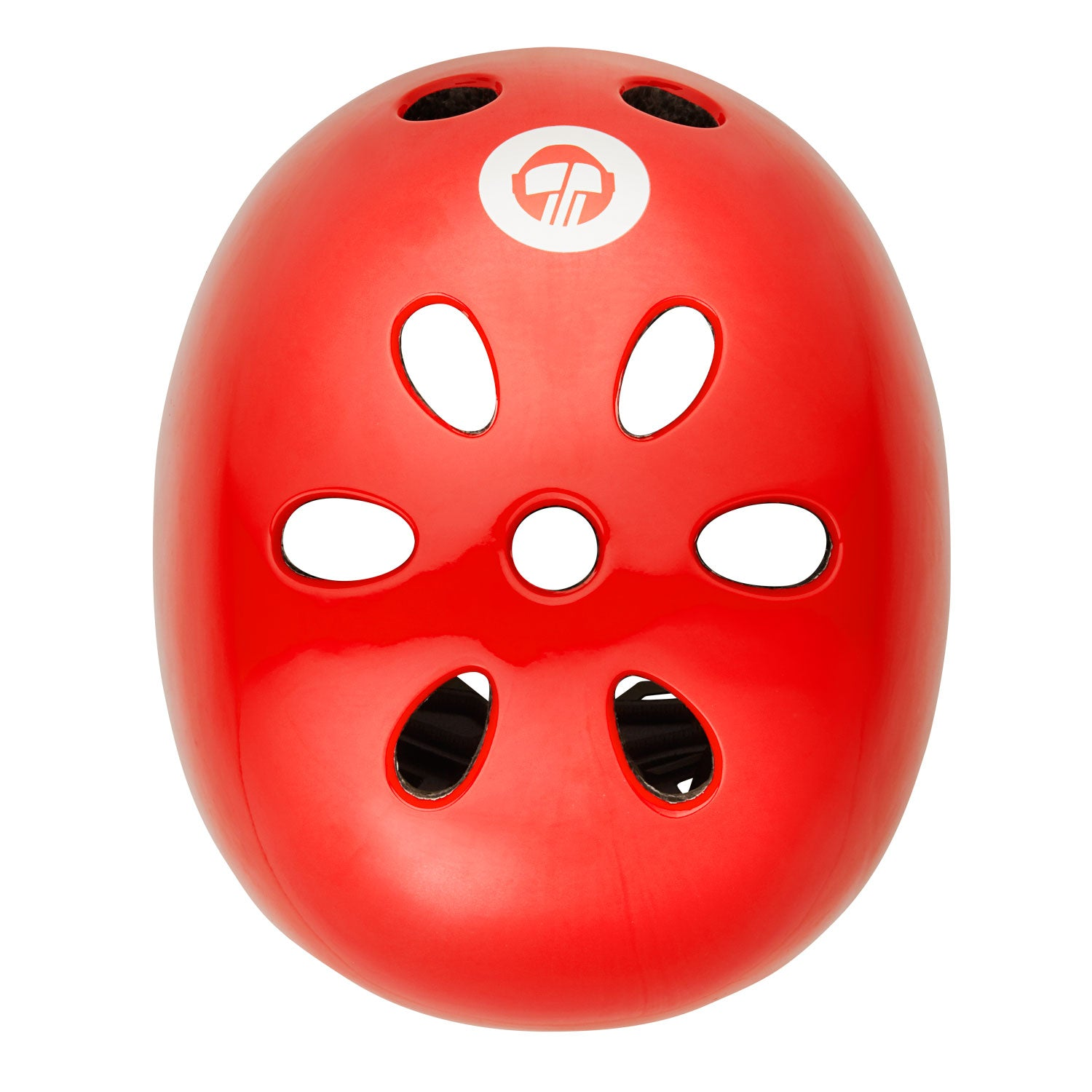 Red GOTRAX multi-sport helmet top image
