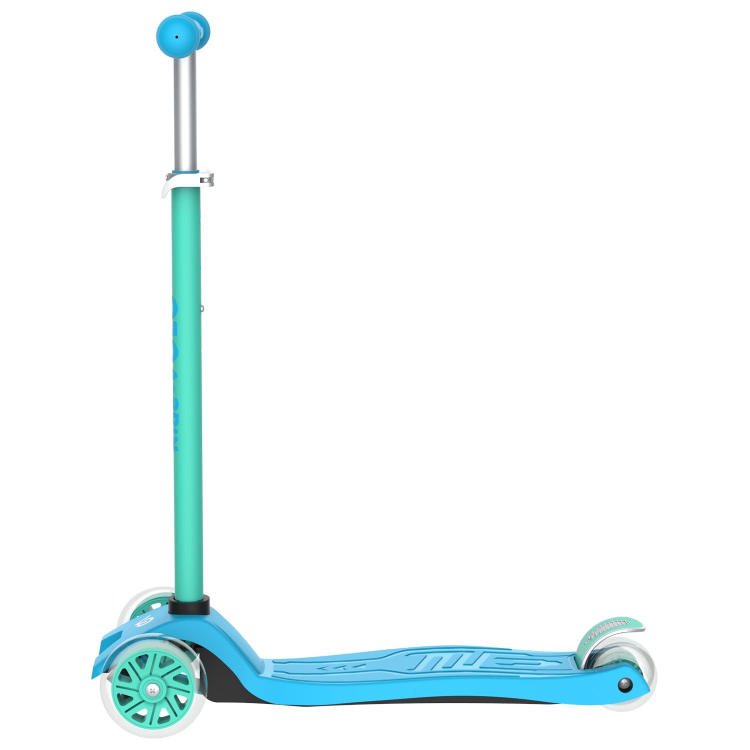 blue k01 3 wheeled kids scooter 2