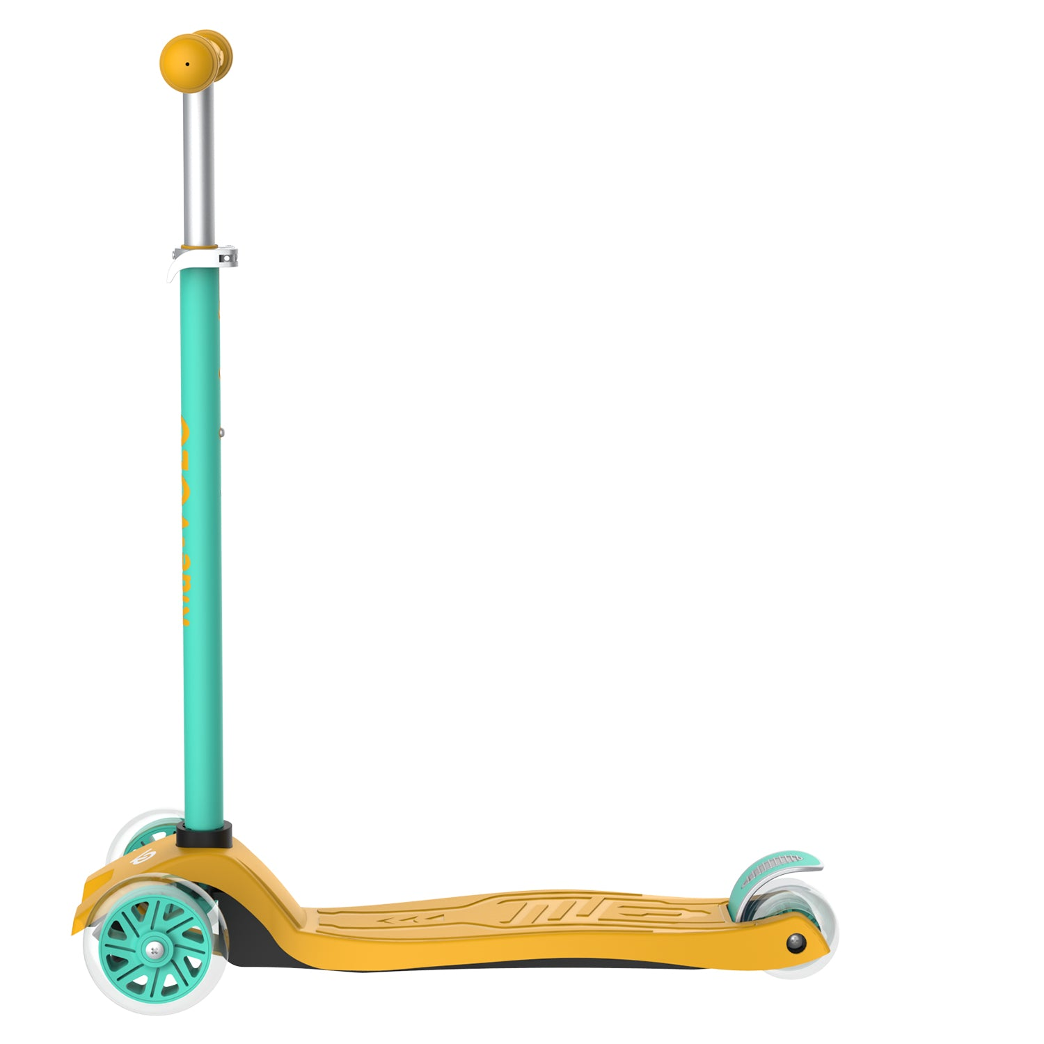Yellow k01 3 wheeled kids scooter 2