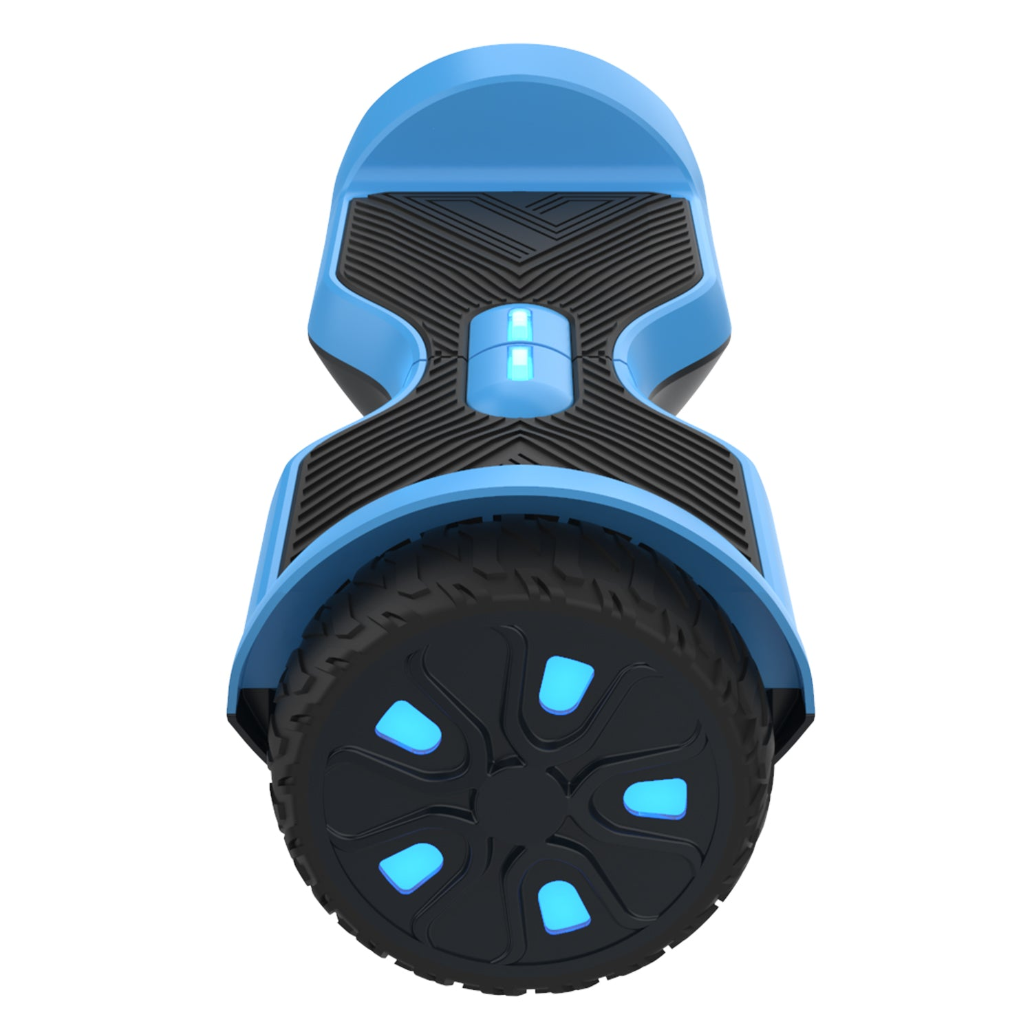 blue srx a6 hoverboard side view