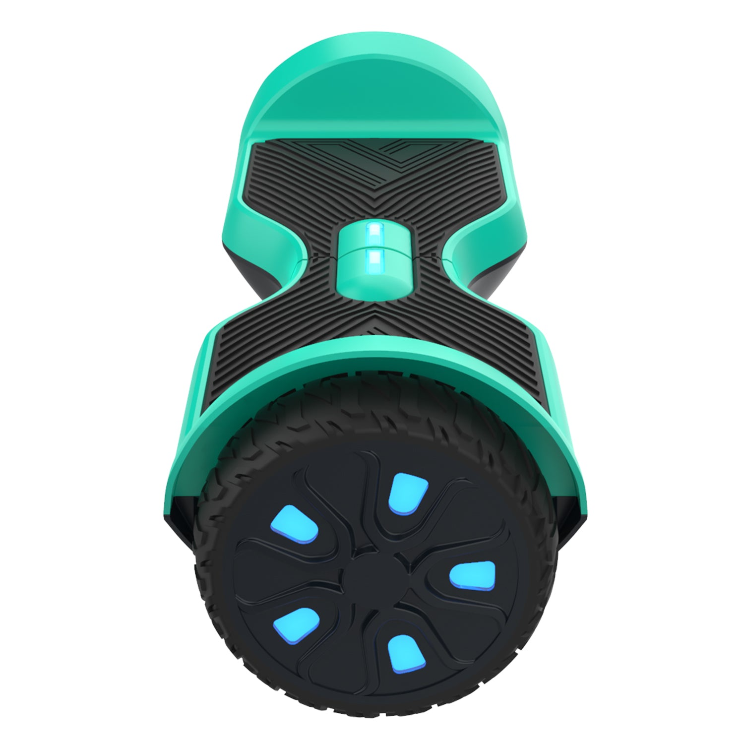 teal srx a6 hoverboard side view