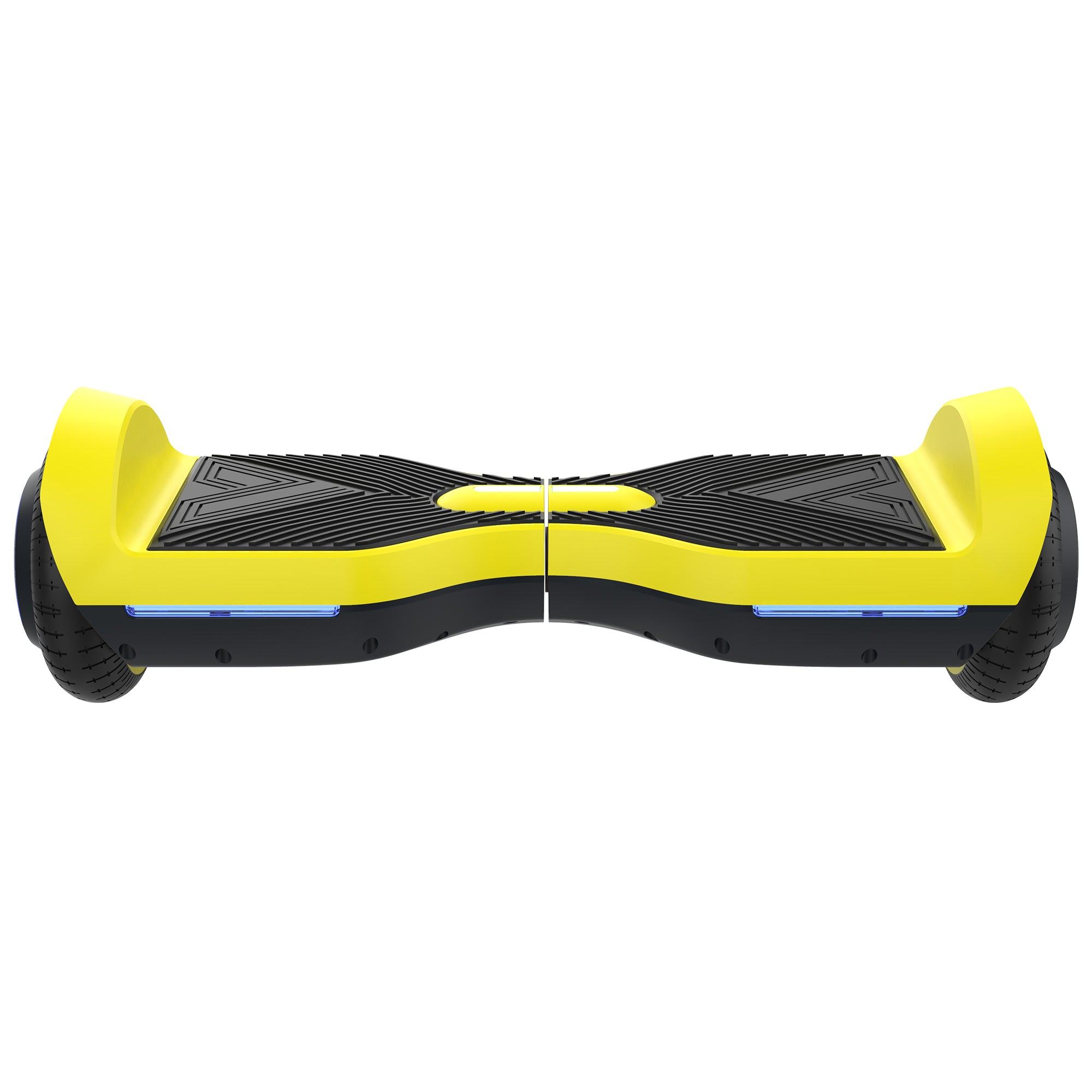 yellow front view SRX bluetooth hoverboard