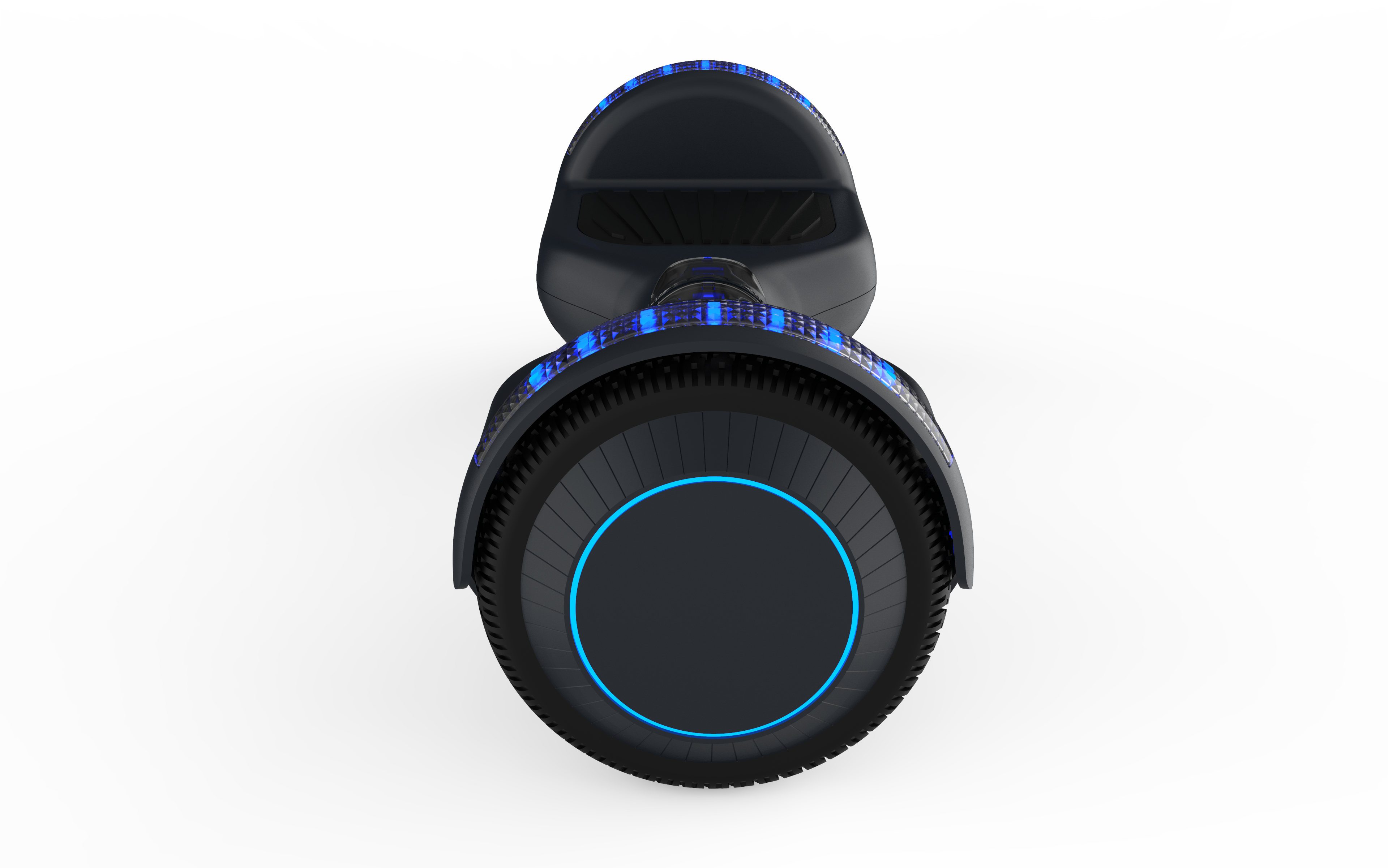 black fluxx watt wheel hoverboard image