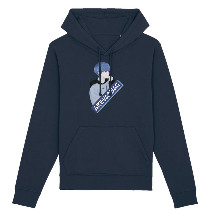 SWEAT À CAPUCHE - HOODIE BLUE ANIMS BY AREVATSAG - AREVATSAG STUDIO