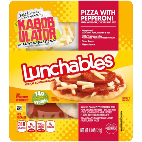Pizza Lunchables with Pepparoni