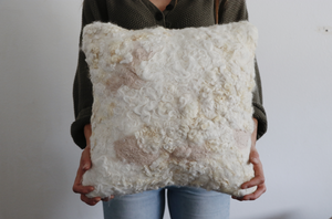 Square 'Painted' Wool Pillow