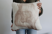 Load image into Gallery viewer, Square 'Painted' Wool Pillow