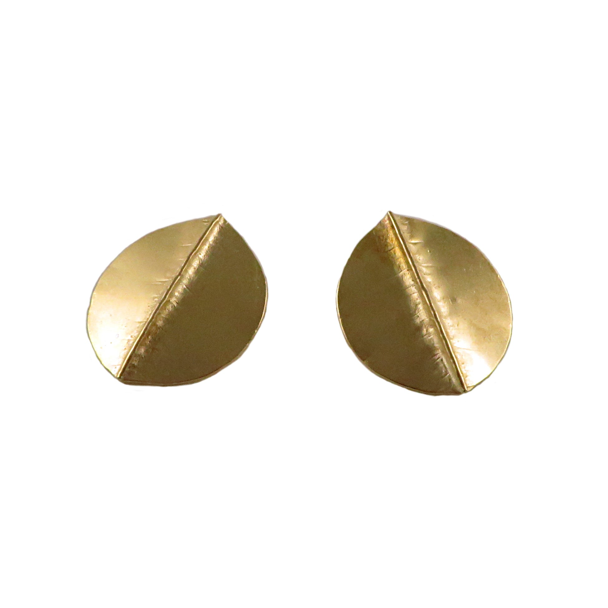 Brass Aspen Foldform Earrings