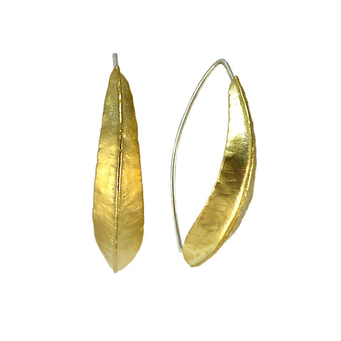 Brass Willow Foldform Earrings